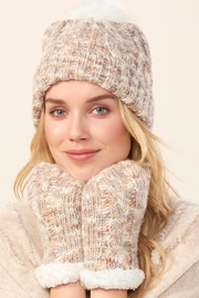 Charlie Paige Hat & Mitten Set - Front full body
