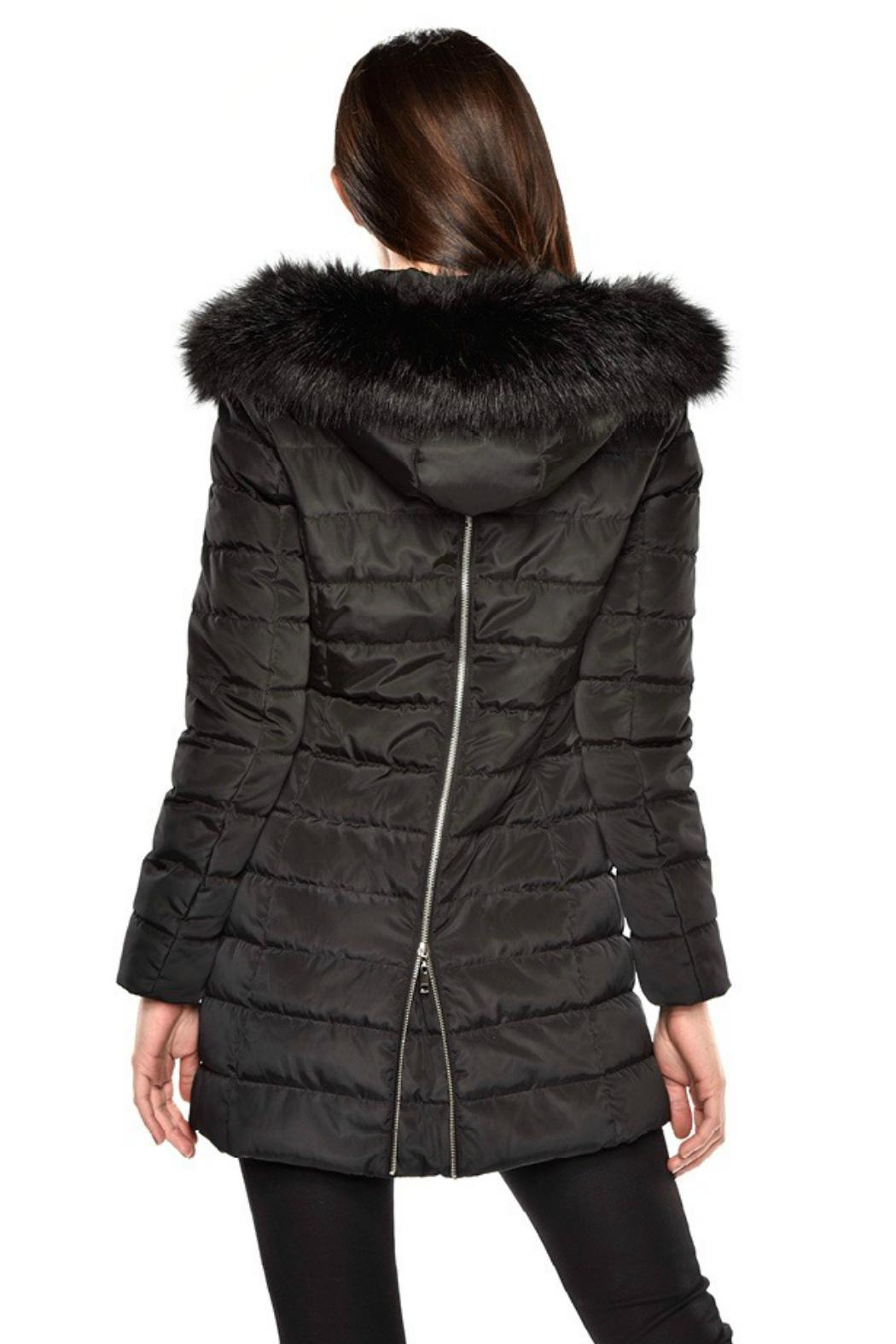 Charlie Paige Hooded Puffer Coat - Front Full Image