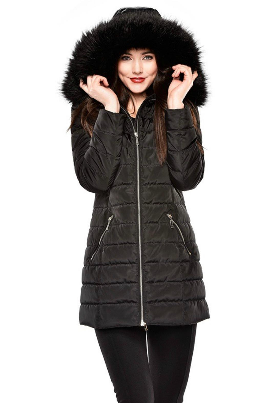 Charlie Paige Hooded Puffer Coat - Main Image