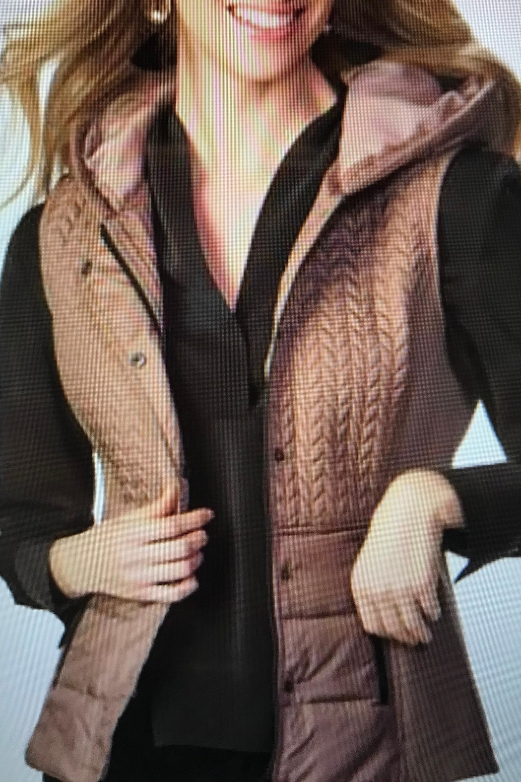 Charlie Paige Hooded Vest - Front Cropped Image