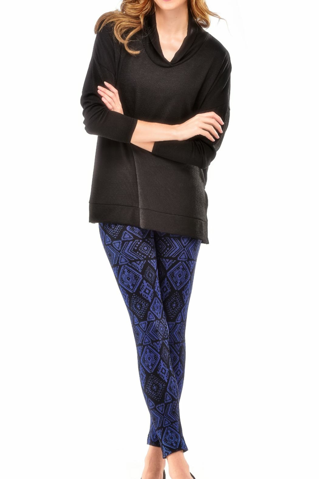 Charlie Paige Jersey Lined Leggings - Front Full Image