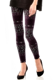 Charlie Paige Jersey Lined Leggings - Front full body