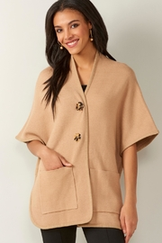 Charlie Paige Knit Pocket Cape - Front cropped
