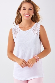 Charlie Paige Lace Summer Top - Product Mini Image