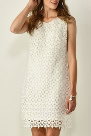 Charlie Paige Layered-Textured White Dress - Product Mini Image
