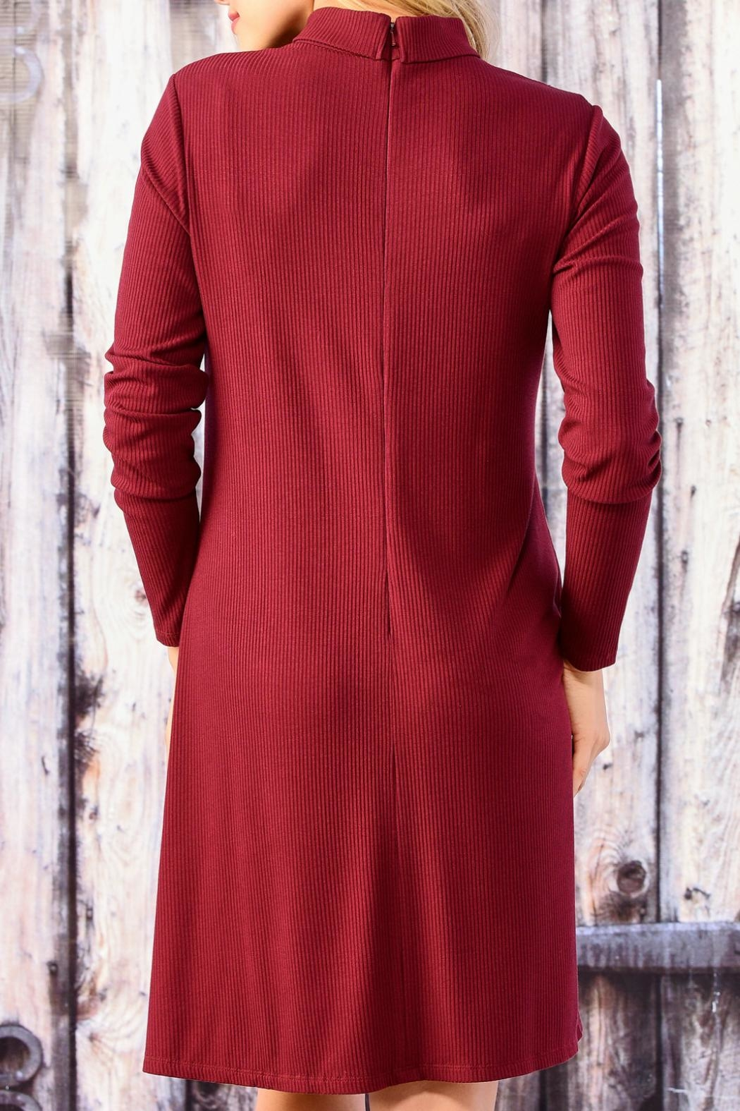 Charlie Paige Long Sleeve A Line Dress - Front Full Image
