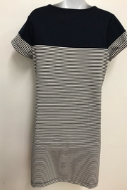 Charlie Paige Navy Nautical Dress - Front full body