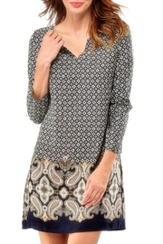 Charlie Paige Paisley Tunic Dress - Front cropped
