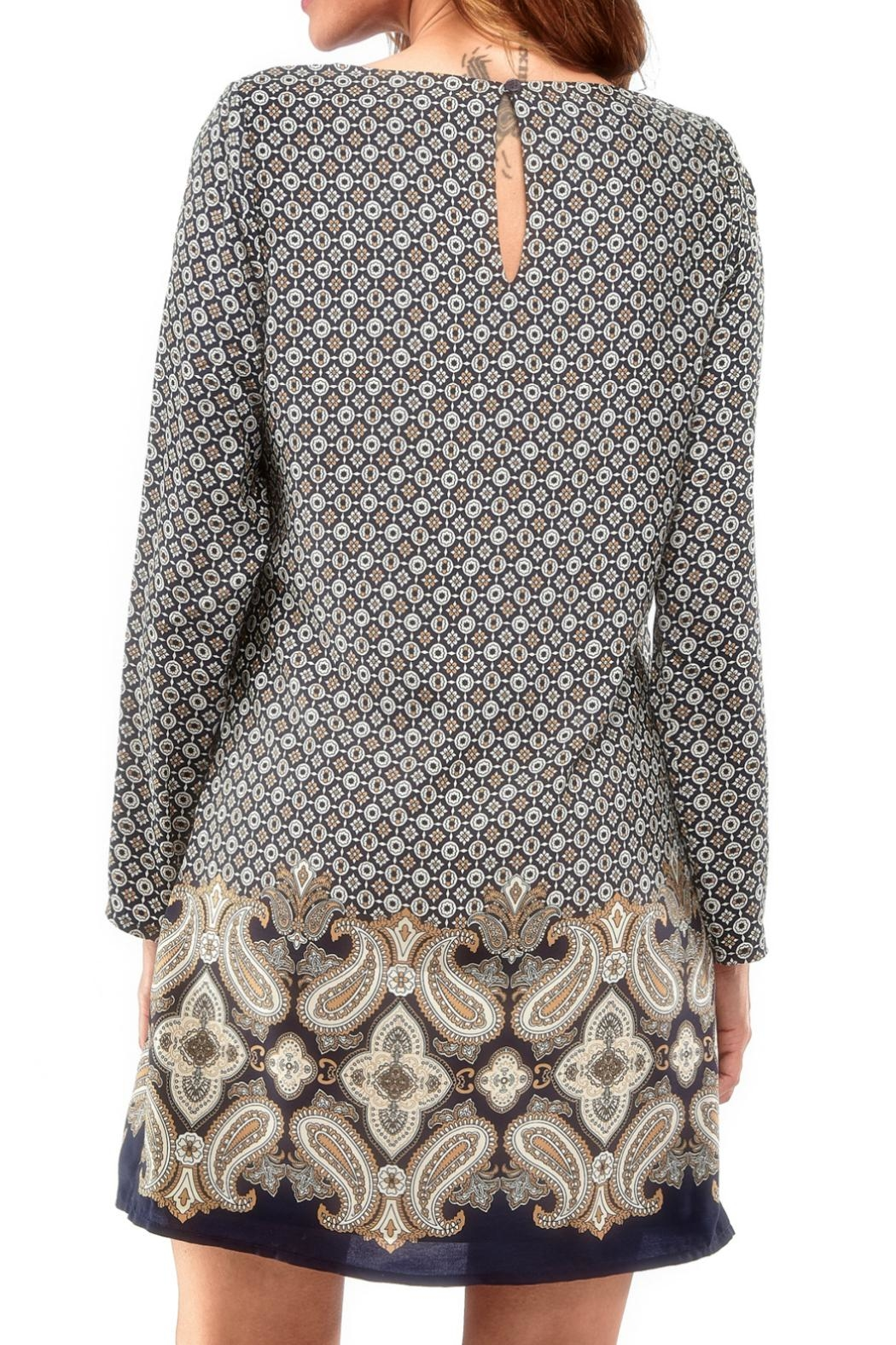 Charlie Paige Paisley Tunic Dress - Front Full Image