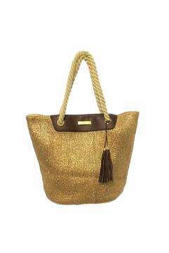 Shoptiques Product: Paper Straw Bag Gold