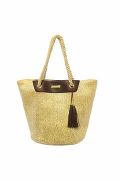 Shoptiques Product: Paper Straw Bag  Silver