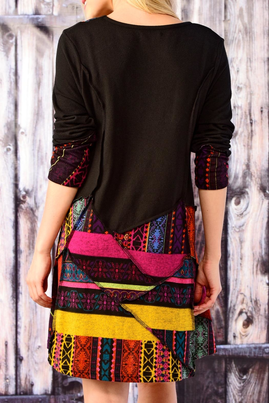 Charlie Paige Patchwork Tunic - Front Full Image