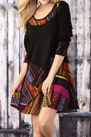 Charlie Paige Patchwork Tunic - Front cropped