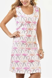 Charlie Paige Pink Flamingo Dress - Front cropped