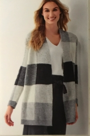 Charlie Paige Pleasant Plaid Cardigan - Front full body