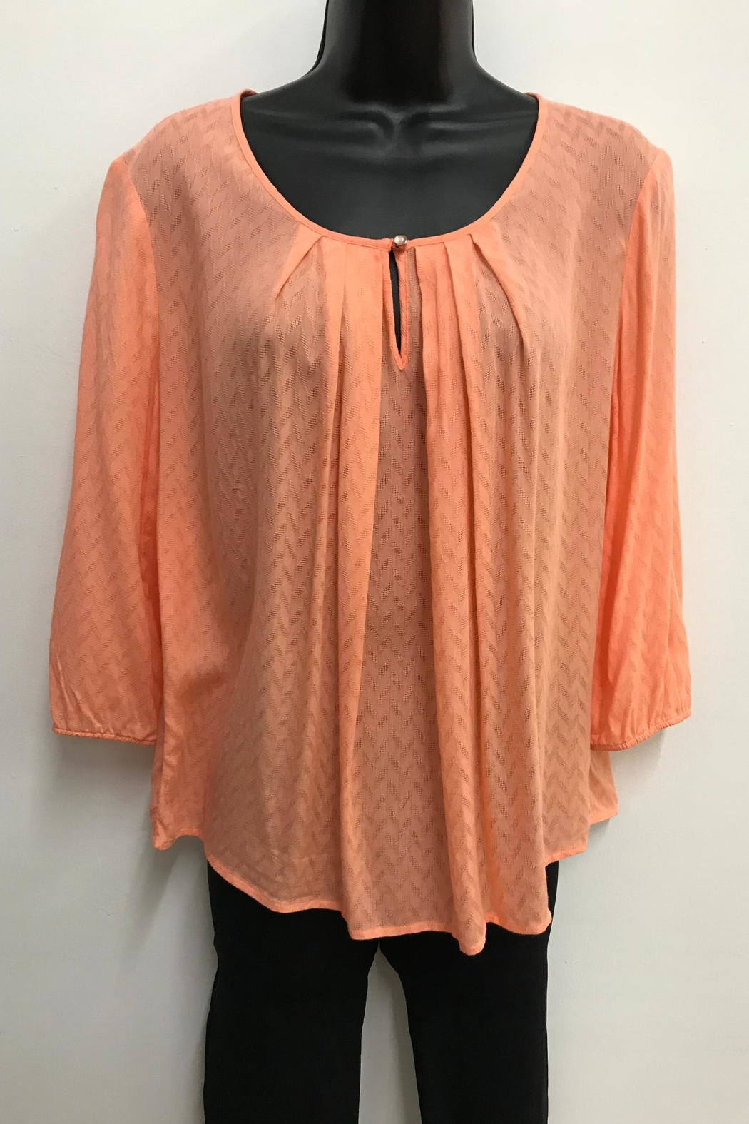 Charlie Paige Pleated Blouse - Front Cropped Image