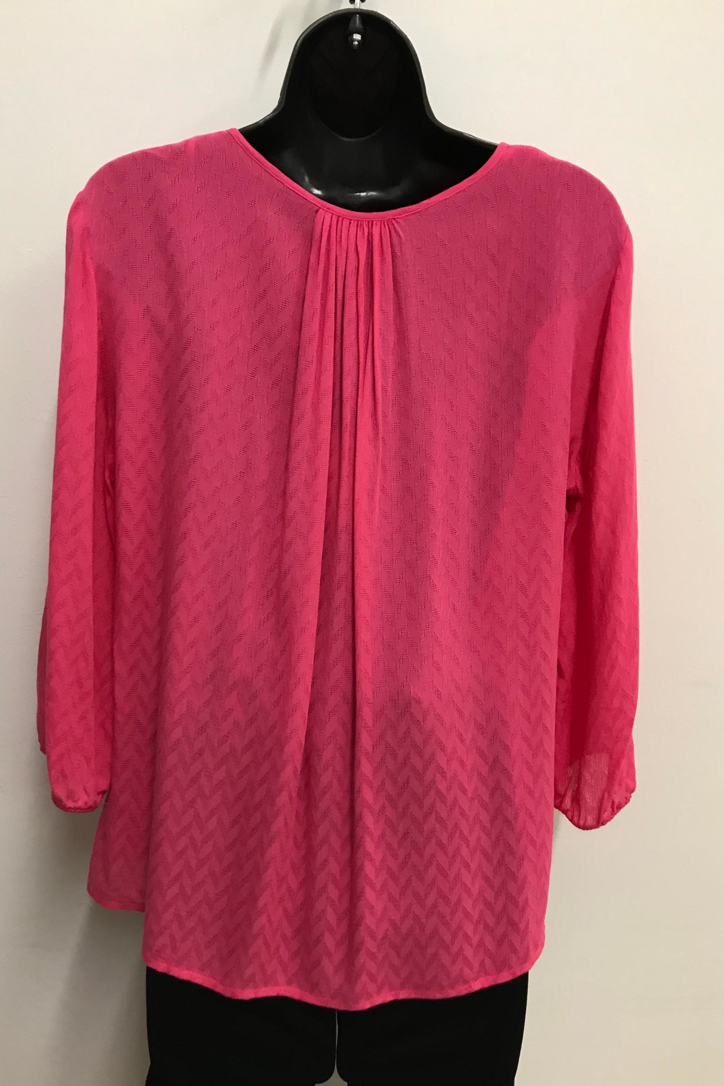 Charlie Paige Pleated Blouse - Front Full Image