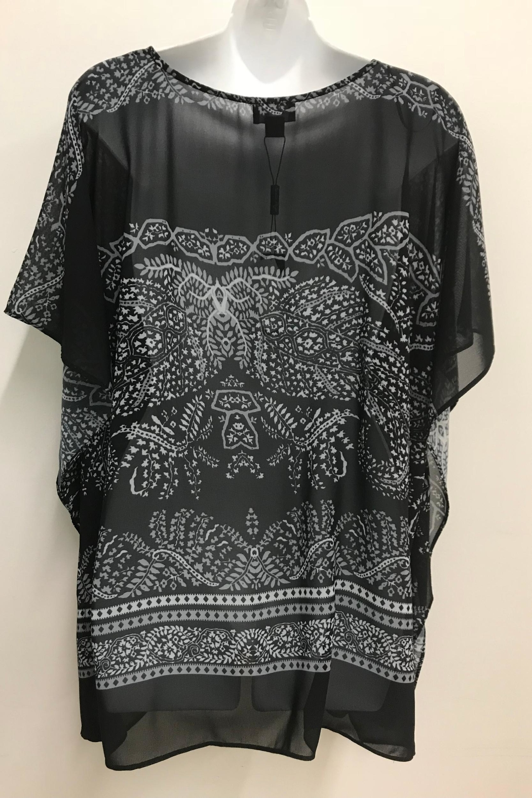 Charlie Paige Print Poncho Top - Front Full Image