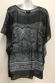 Charlie Paige Print Poncho Top - Front full body