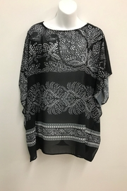 Charlie Paige Print Poncho Top - Front cropped