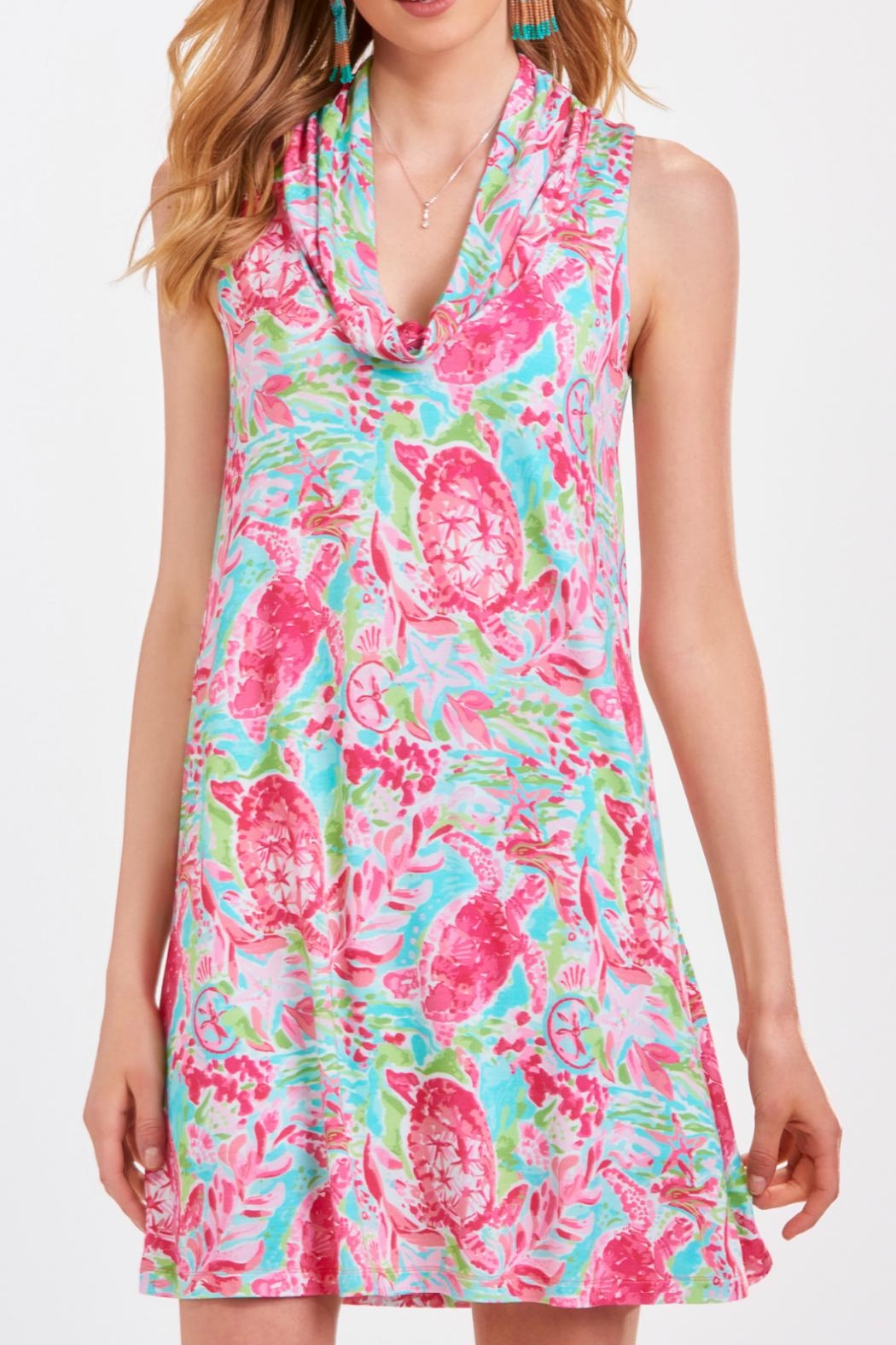 Charlie Paige Printed Tunic Dress - Front Cropped Image