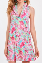 Charlie Paige Printed Tunic Dress - Front cropped