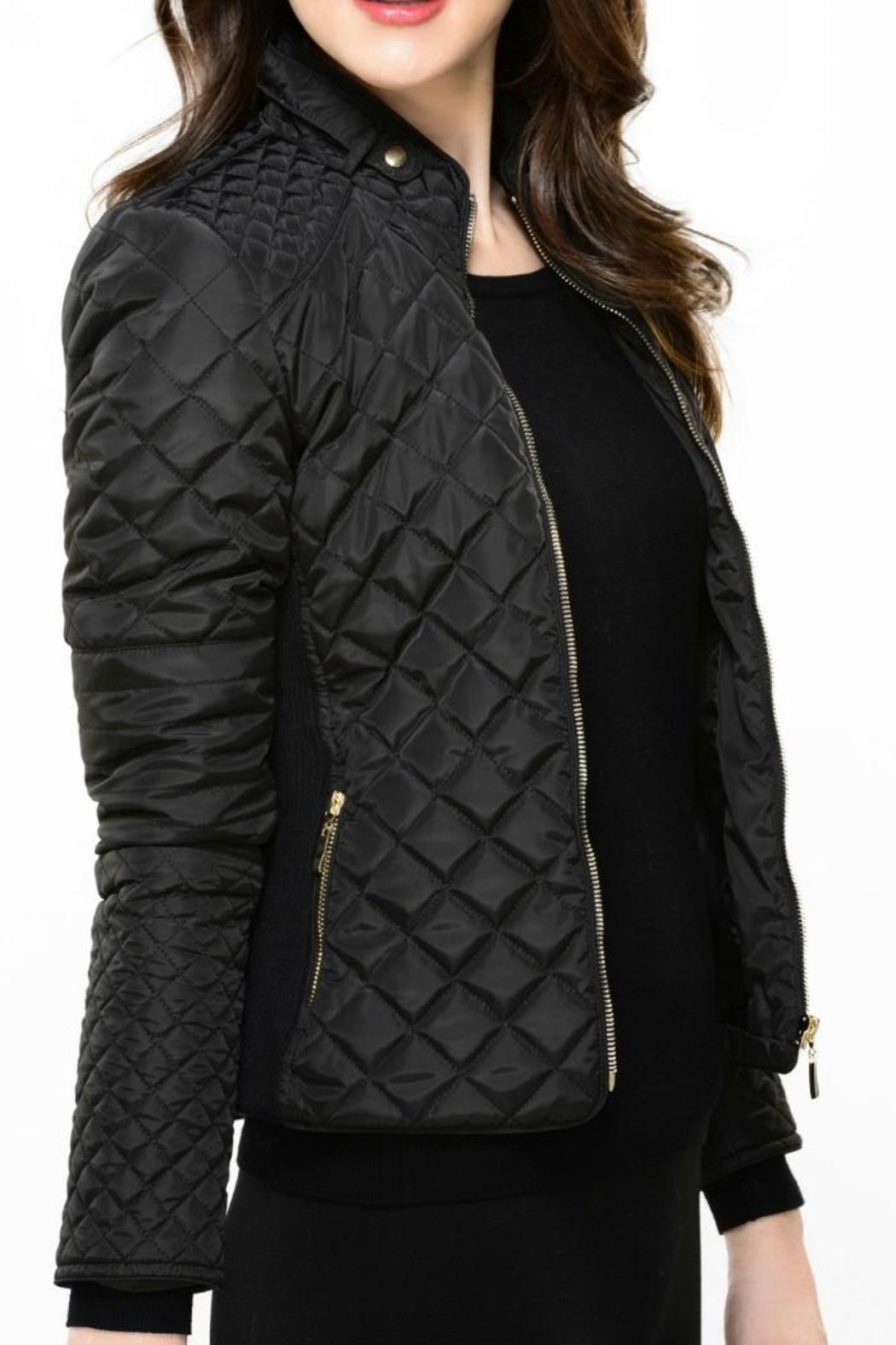 Charlie Paige Quilted Black Jacket from Columbus by Audacious ...