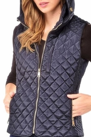 Charlie Paige Quilted Blue Vest - Product Mini Image