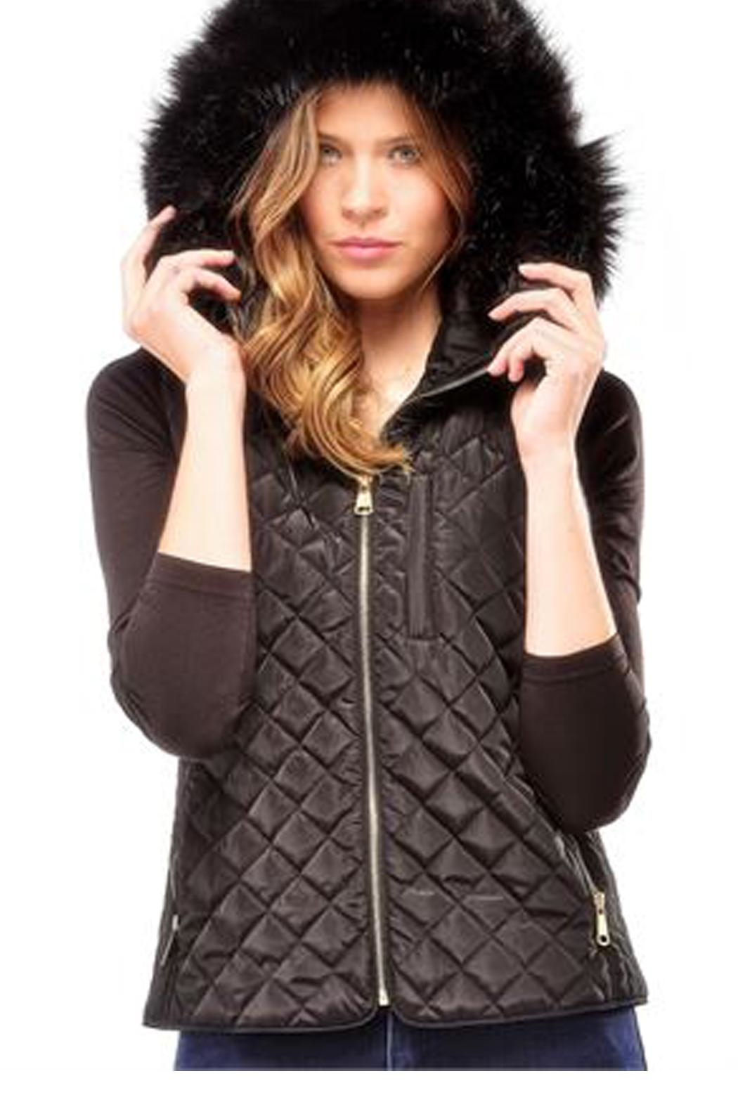 Charlie Paige Quilted Hooded Vest - Main Image