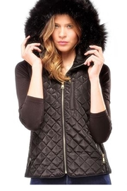Charlie Paige Quilted Hooded Vest - Product Mini Image