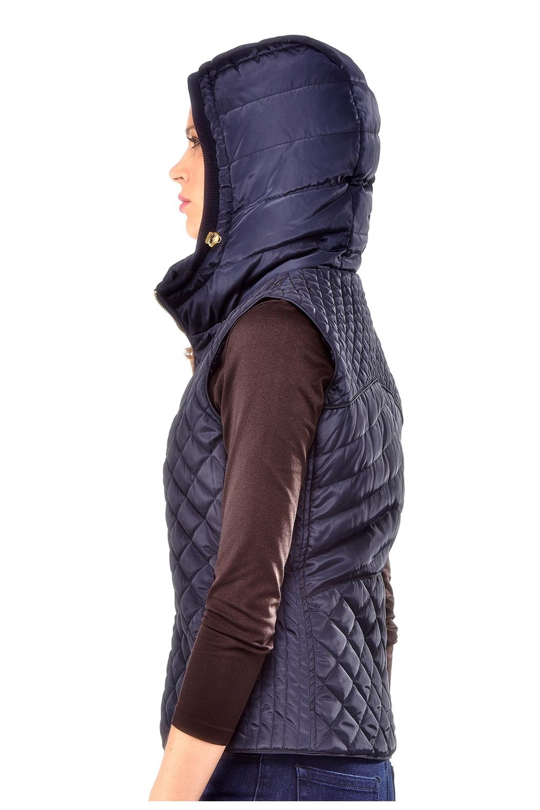 Charlie Paige Quilted Hooded Vest - Front Full Image