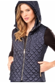 Charlie Paige Quilted Hooded Vest - Front cropped