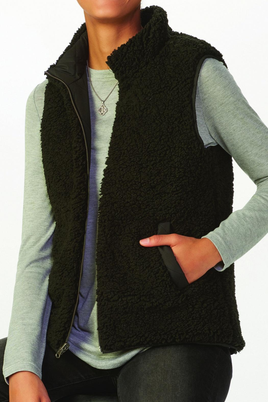 Charlie Paige Reversible Quilted Jacket - Front Full Image