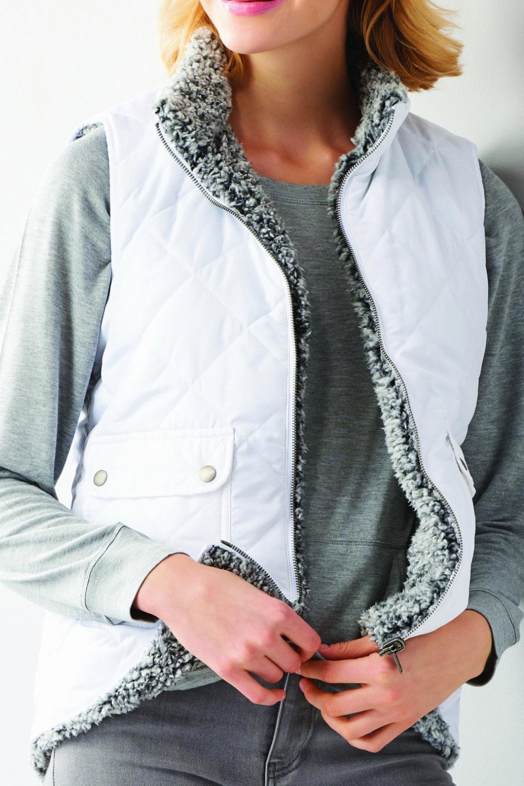 Charlie Paige Reversible Quilted Jacket - Main Image