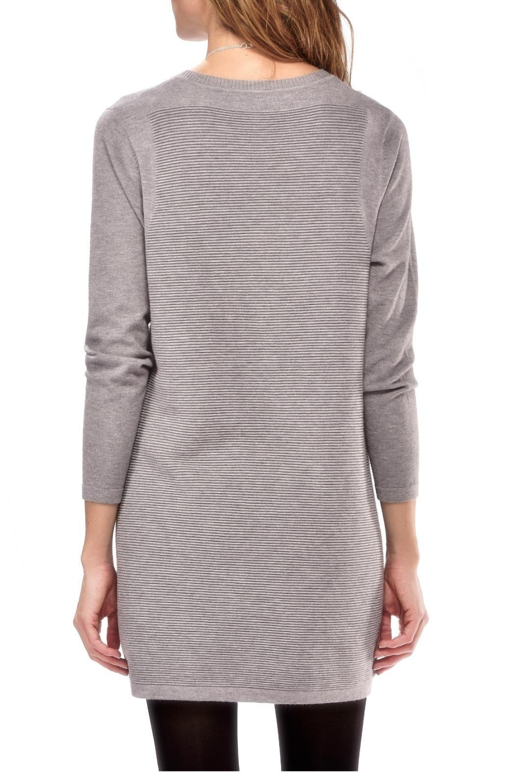 Charlie Paige Ribbed Knit Dress - Front Full Image