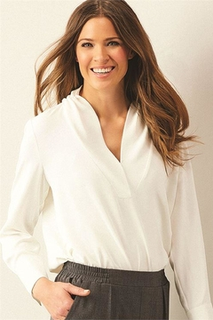 Charlie Paige Rouched Neck Blouse - Product List Image