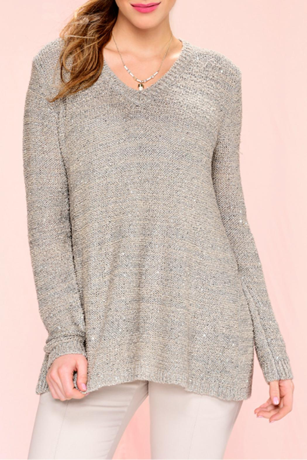 Charlie Paige Sequinned Knit Sweater - Main Image