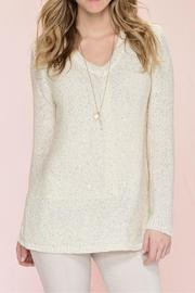Charlie Paige Sequinned Knit Sweater - Front full body