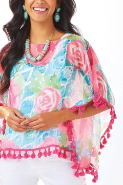 Shoptiques Product: Shades Of Summer Poncho Top