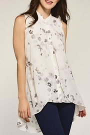 Charlie Paige Sheer Floral Tank - Product Mini Image