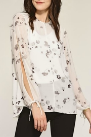 Charlie Paige Sheer Floral Top - Product Mini Image