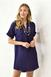 Charlie Paige Solid Navy Tunic - Product Mini Image