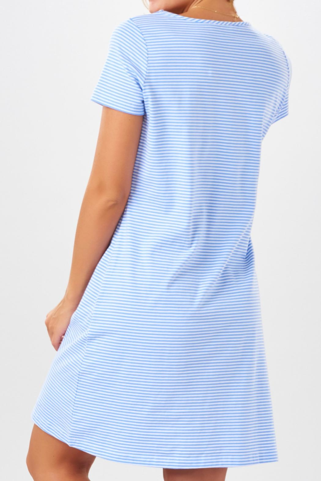 Charlie Paige Striped Knit Dress - Front Full Image
