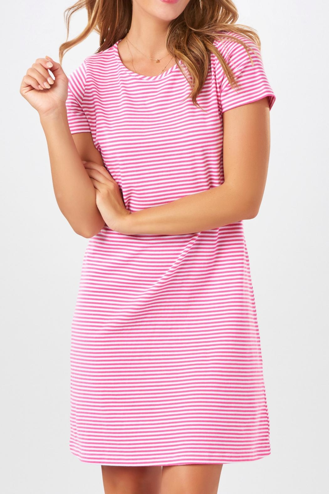 Charlie Paige Striped Knit Dress - Front Cropped Image