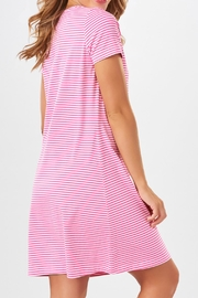 Charlie Paige Striped Knit Dress - Front full body
