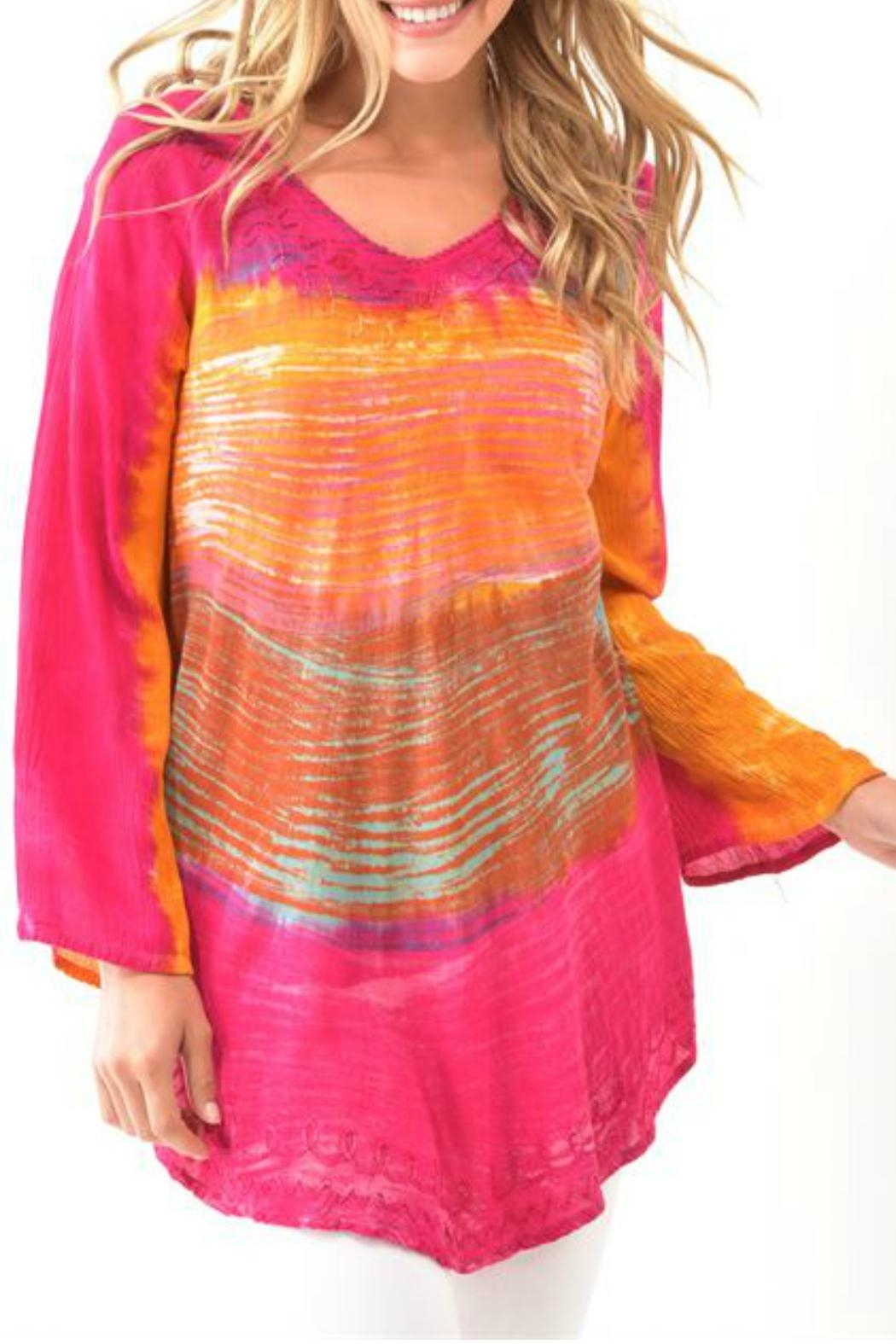 Charlie Paige Tie-Dye Top - Front Cropped Image