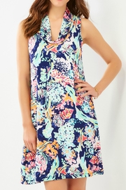 Charlie Paige Tropical Cowl-Neck Dress - Front cropped