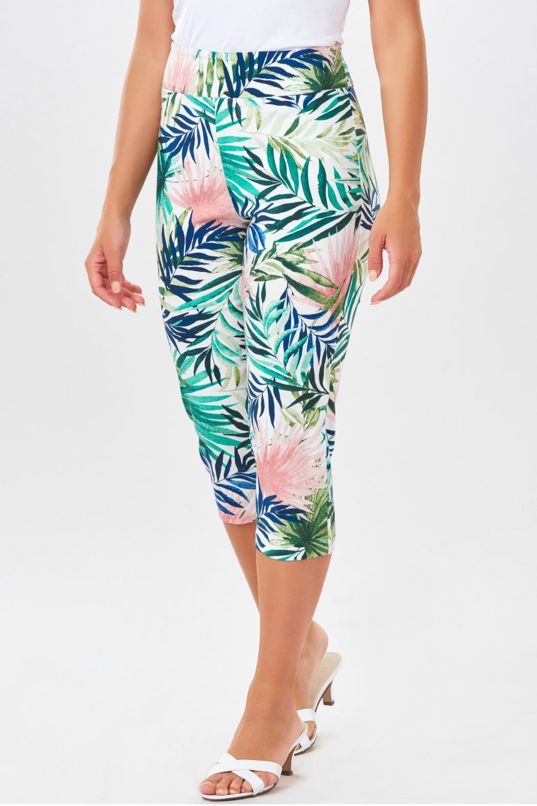 Charlie Paige Tropical Print Capris - Front Cropped Image