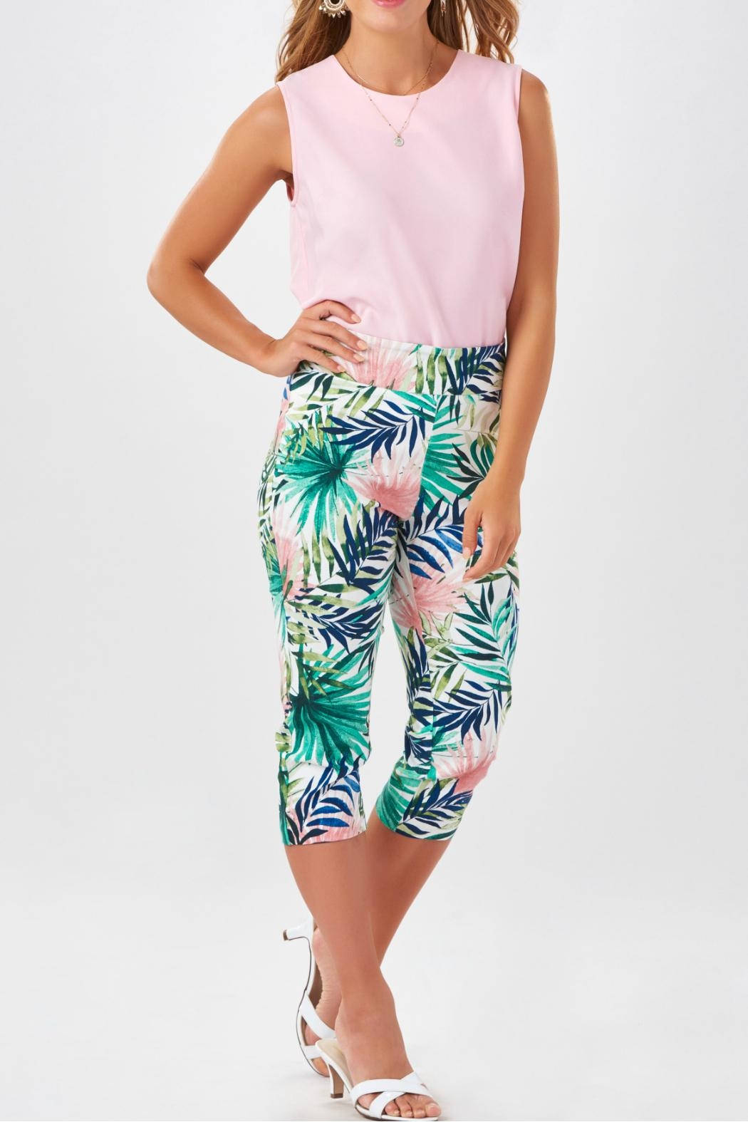 Charlie Paige Tropical Print Capris - Front Full Image