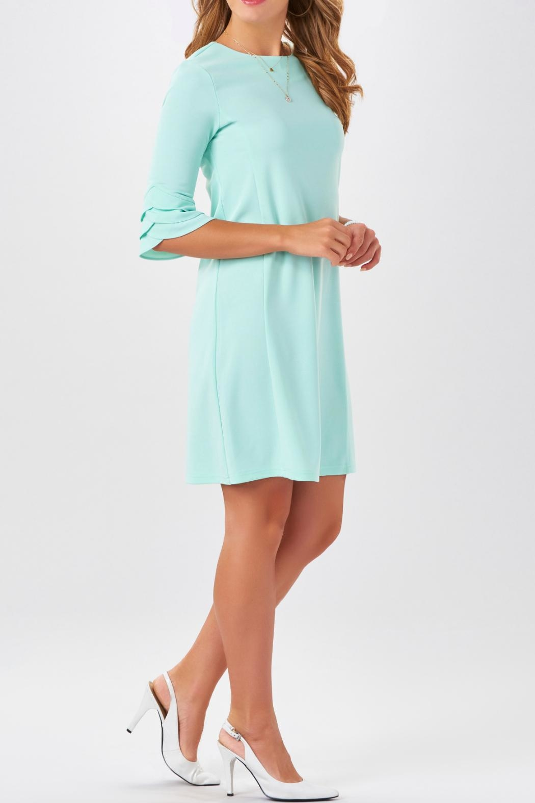 Charlie Paige Tulip Sleeve Dress - Front Full Image